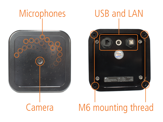 SoundCam Ultra Sensor hardware components
